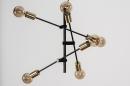 Hanglamp 13860: modern, retro, eigentijds klassiek, metaal #9