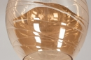 Hanglamp 13863: modern, eigentijds klassiek, glas, metaal #6