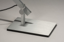 Tafellamp 13868: design, modern, aluminium, geschuurd aluminium #10