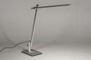 Tafellamp 13868: design, modern, aluminium, geschuurd aluminium #3