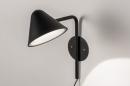 Wandlamp 13877: design, modern, metaal, zwart #1