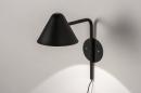 Wandlamp 13877: design, modern, metaal, zwart #2