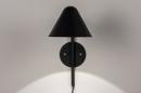 Wandlamp 13877: design, modern, metaal, zwart #4