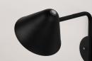 Wandlamp 13877: design, modern, metaal, zwart #8