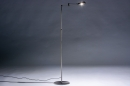Vloerlamp 13889: modern, staal rvs, metaal, staalgrijs #1