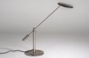 Tafellamp 13891: design, modern, metaal, staalgrijs #1