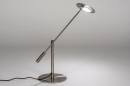 Tafellamp 13891: design, modern, metaal, staalgrijs #2