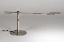 Tafellamp 13891: design, modern, metaal, staalgrijs #4