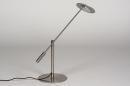 Tafellamp 13891: design, modern, metaal, staalgrijs #7