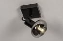 Plafondlamp 13895: modern, retro, glas, metaal #1