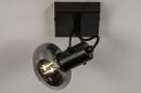 Plafondlamp 13895: modern, retro, glas, metaal #2