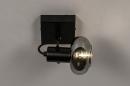 Plafondlamp 13895: modern, retro, glas, metaal #3