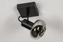 Plafondlamp 13895: modern, retro, glas, metaal #4