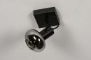 Plafondlamp 13895: modern, retro, glas, metaal #5