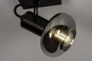 Plafondlamp 13895: modern, retro, glas, metaal #6
