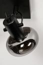 Plafondlamp 13895: modern, retro, glas, metaal #7