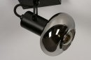 Plafondlamp 13895: modern, retro, glas, metaal #8