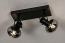 Plafondlamp 13896: modern, retro, glas, metaal #1