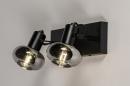 Plafondlamp 13896: modern, retro, glas, metaal #10