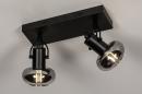 Plafondlamp 13896: modern, retro, glas, metaal #2