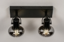 Plafondlamp 13896: modern, retro, glas, metaal #3