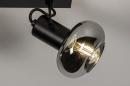 Plafondlamp 13896: modern, retro, glas, metaal #6