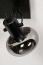 Plafondlamp 13896: modern, retro, glas, metaal #7