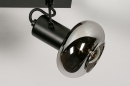 Plafondlamp 13896: modern, retro, glas, metaal #8
