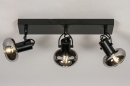 Plafondlamp 13897: modern, retro, glas, metaal #3