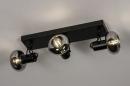 Plafondlamp 13897: modern, retro, glas, metaal #4