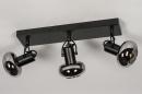 Plafondlamp 13897: modern, retro, glas, metaal #5