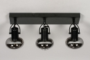 Plafondlamp 13897: modern, retro, glas, metaal #6