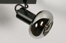 Plafondlamp 13897: modern, retro, glas, metaal #9