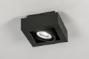 Plafondlamp 13931: modern, stoer, raw, aluminium #1