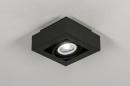 Plafondlamp 13931: modern, stoer, raw, aluminium #2