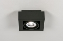 Plafondlamp 13931: modern, stoer, raw, aluminium #3