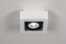 Plafondlamp 13932: modern, stoer, raw, aluminium #2