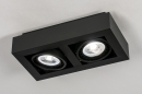 Plafondlamp 13933: modern, stoer, raw, aluminium #1