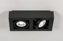Plafondlamp 13933: modern, stoer, raw, aluminium #2