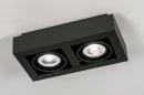 Plafondlamp 13933: modern, stoer, raw, aluminium #3