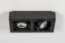 Plafondlamp 13933: modern, stoer, raw, aluminium #6