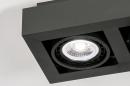Plafondlamp 13933: modern, stoer, raw, aluminium #8
