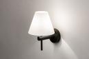 Wandlamp 13937: modern, glas, wit opaalglas, metaal #2