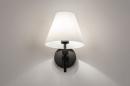 Wandlamp 13937: modern, glas, wit opaalglas, metaal #3