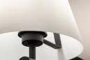 Wandlamp 13937: modern, glas, wit opaalglas, metaal #7