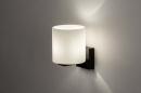 Wandlamp 13938: modern, glas, wit opaalglas, metaal #1