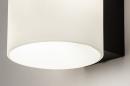 Wandlamp 13939: modern, glas, wit opaalglas, metaal #2