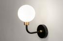Wandlamp 13940: klassiek, eigentijds klassiek, art deco, glas #1