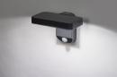 Wandlamp 13949: modern, kunststof, acrylaat kunststofglas, antraciet donkergrijs #2