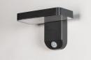 Wandlamp 13949: modern, kunststof, acrylaat kunststofglas, antraciet donkergrijs #4